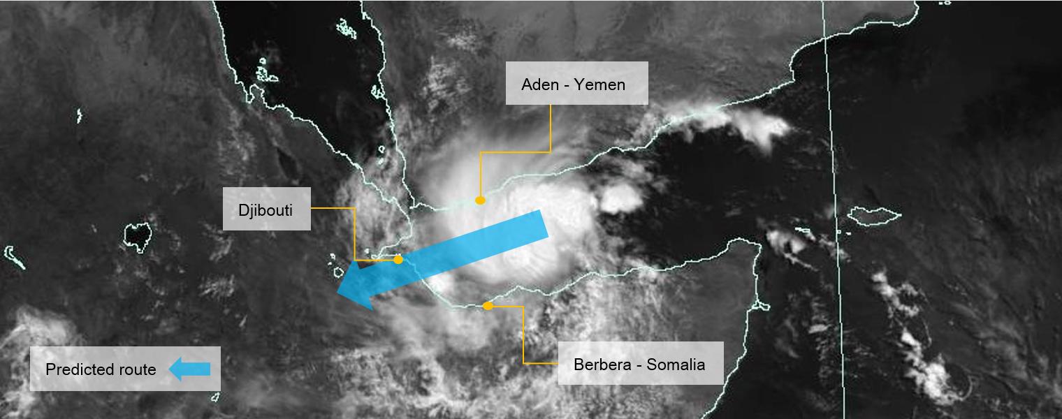 Cyclone Sagar, Gulf of Aden