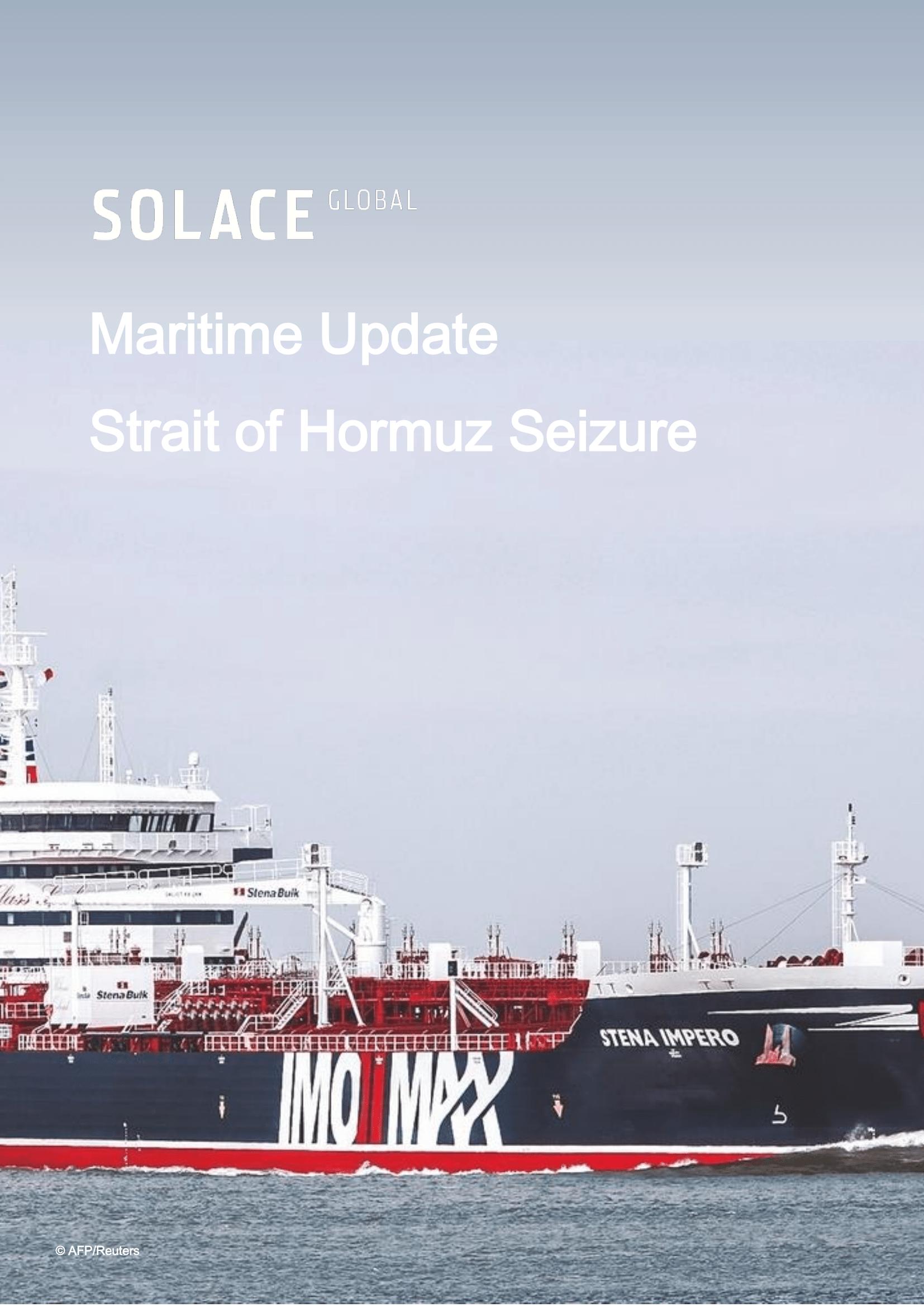 Maritime Update – Strait of Hormuz Seizure